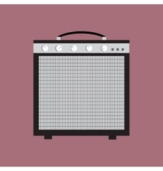 Guitar amplifier icon of the vector