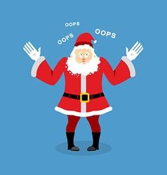Surprised santa claus speak oops perplexed vector