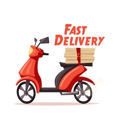 Fast and free delivery cartoon vector image
