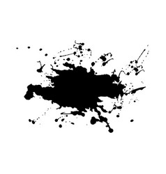 Abstract splatter black color vector