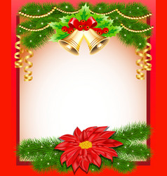background Christmas with flower vector image
