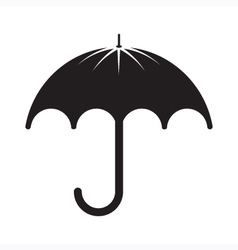 Black umbrella silhouette vector