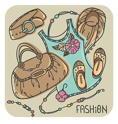 Fashion background vector
