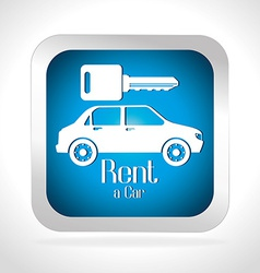 Rent a car design vector