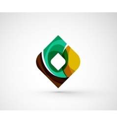 Abstract geometric company logo square rhomb vector