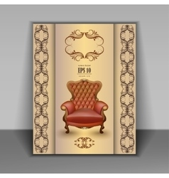 Armchair luxury furniture item vector