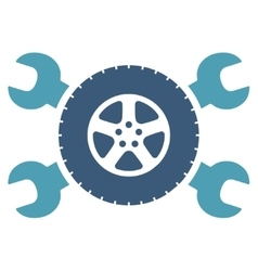 Tire service icon vector