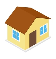 House isometric 3d icon vector