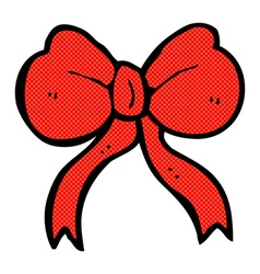 Comic cartoon bow tie vector