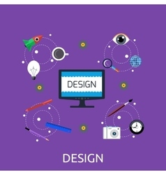 Design icon concept flat style vector