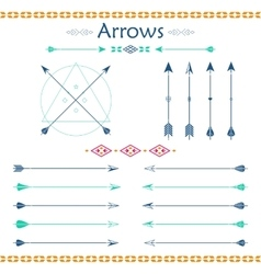 Set of different arrows vector