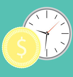 Money and time concept vector