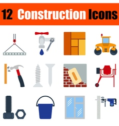 Flat design construction icon set vector