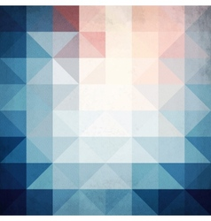 Abstract blue triangles geometry background vector image vector image
