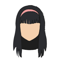 anime girl icon vector image vector image