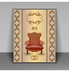 armchair luxury furniture item vector image
