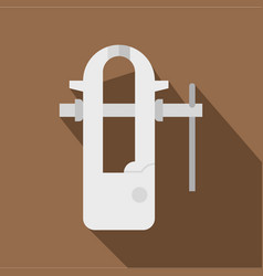 Blacksmiths vice icon flat style vector