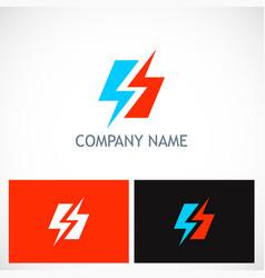 Bolt lighting electric logo vector