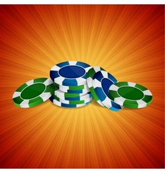 Casino background vector image vector image