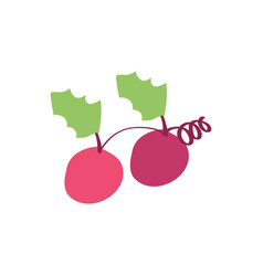 Christmas grape icon design vector