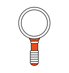 Color graphic of magnifying glass with orange vector