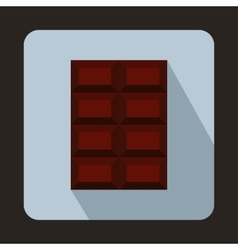 Dark chocolate icon in flat style vector image