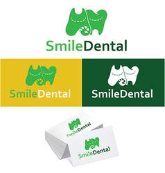Dental logos collection in various color vector