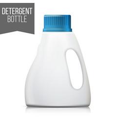 detergent bottle plastic detergent vector image vector image