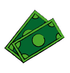 Dollar money banknote currency cash icon vector