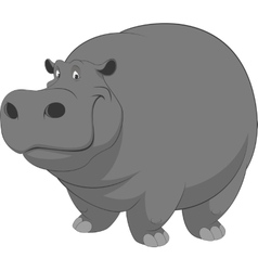 Funny hippo vector image vector image