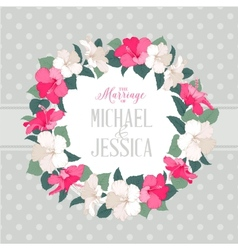 Hibiscus flower wreath vector