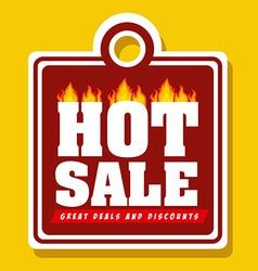 Hot deal design vector