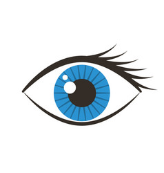 human eye isolated icon vector image