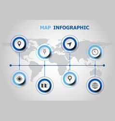infographic design with map icons vector image vector image