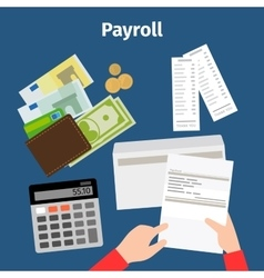 Invoice sheet or payroll icon vector image vector image