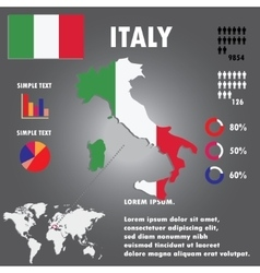 Italy Country Infographics Template vector image vector image