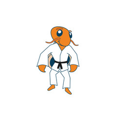 Judo hermit crab charcater vector