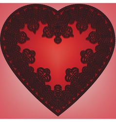 lace heart vector image