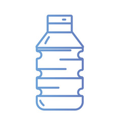 line bottle water to natural mineral vector image vector image
