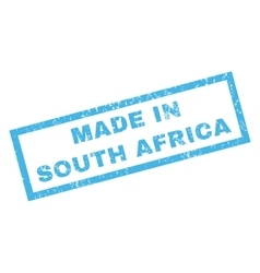 Made in south africa rubber stamp vector