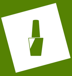 Nail polish sign white icon obtained as a vector