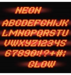 neon glow font vector image vector image