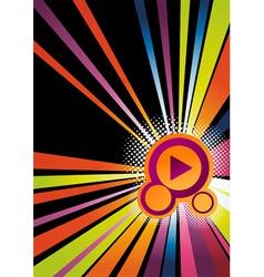 rainbow abstract disco vector image