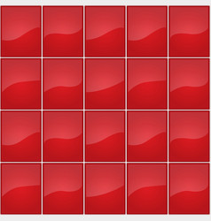 Red tile seamless texture vector