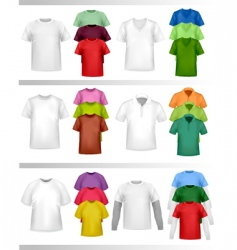 shirt set vector image vector image