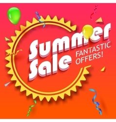 Summer sale advertisement vector image