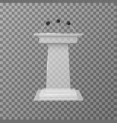 transparent lecture speaker podium tribune vector image