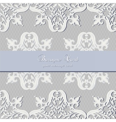 Vintage baroque luxury lace card vector