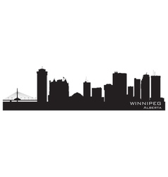 Winnipeg Canada skyline Detailed silhouette vector image