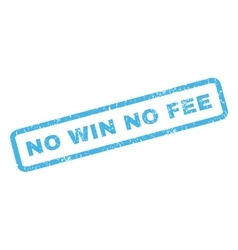 No win no fee rubber stamp vector